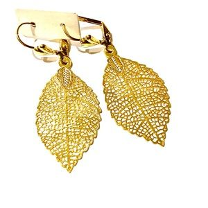 Earring 18k micro gold plated vintage modern